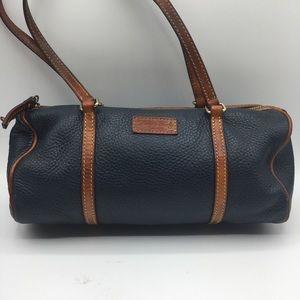 Dooney & Bourke Blue Leather Barrel Bag